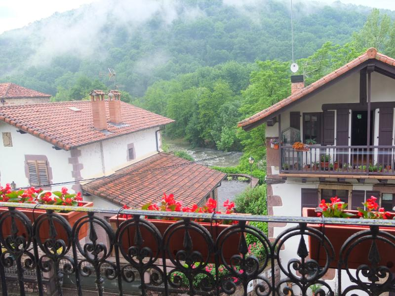 Oieregi has beautiful houses overlooking the river Bidasoa.