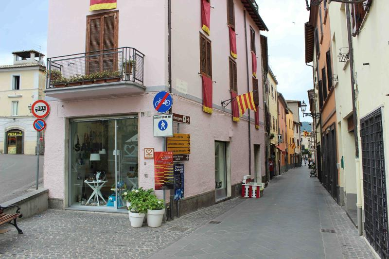 Main street with cosy shops and local restaurants