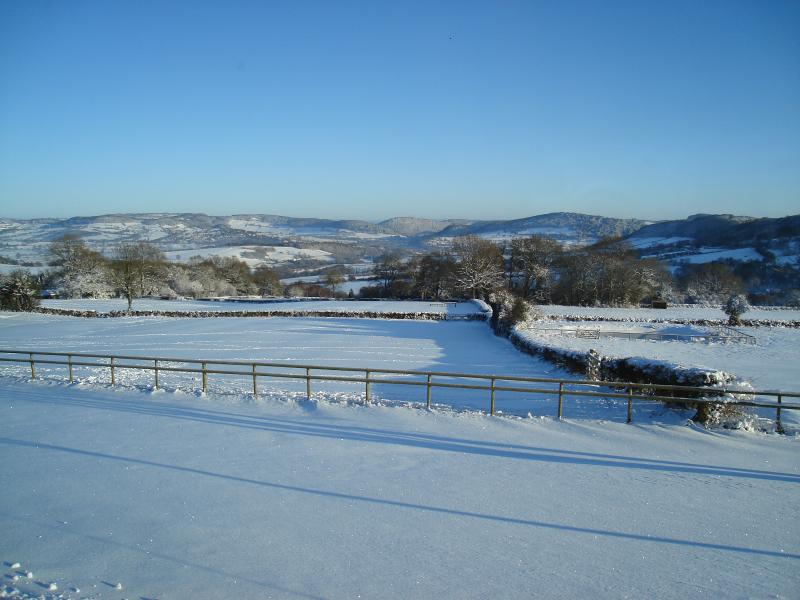 Winter view from Little Wern Farm
