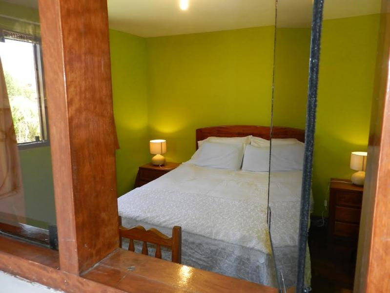 double bedroom with  private full bathroom