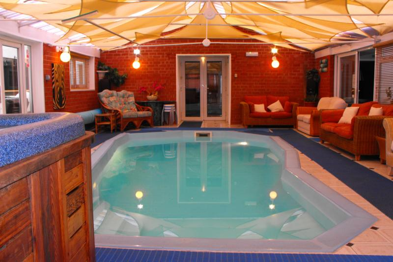 In-door Heated Swimming Pool and 7 person Hot Tub