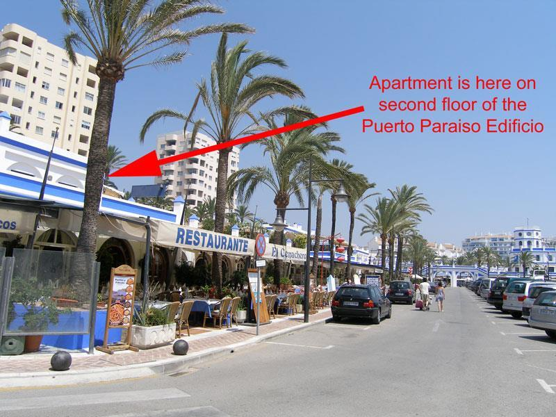 Location of apartment in the port
