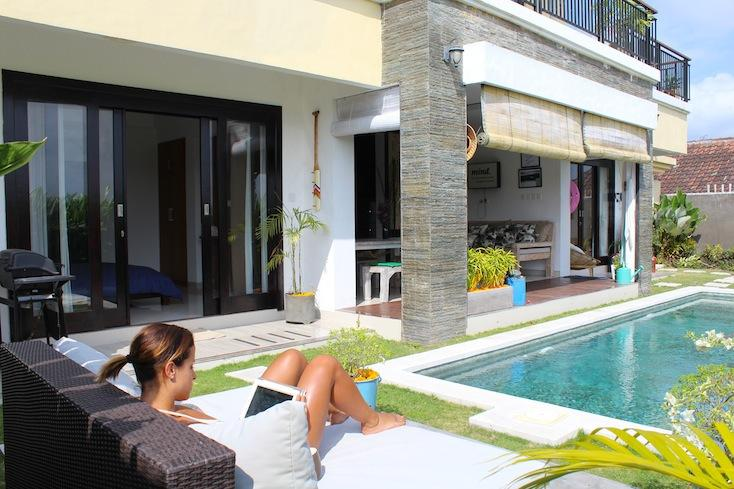 Daytime, private...read, swim and relax