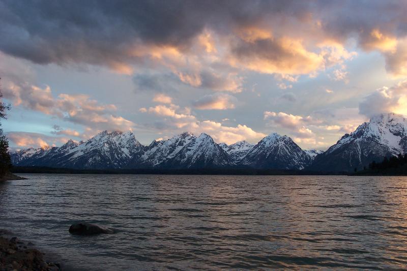 Teton Mountains over Jackson Lake