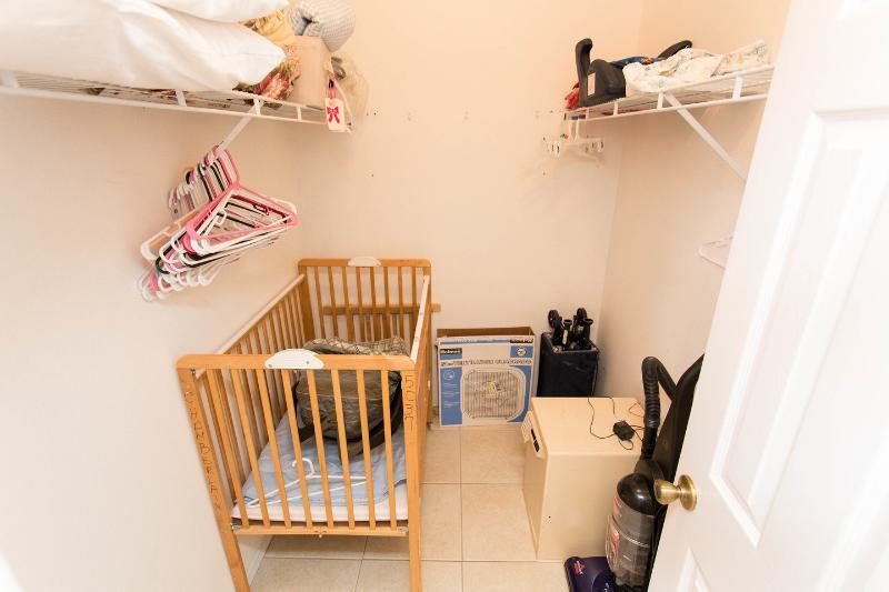 The Master Bedroom walk -in Closet