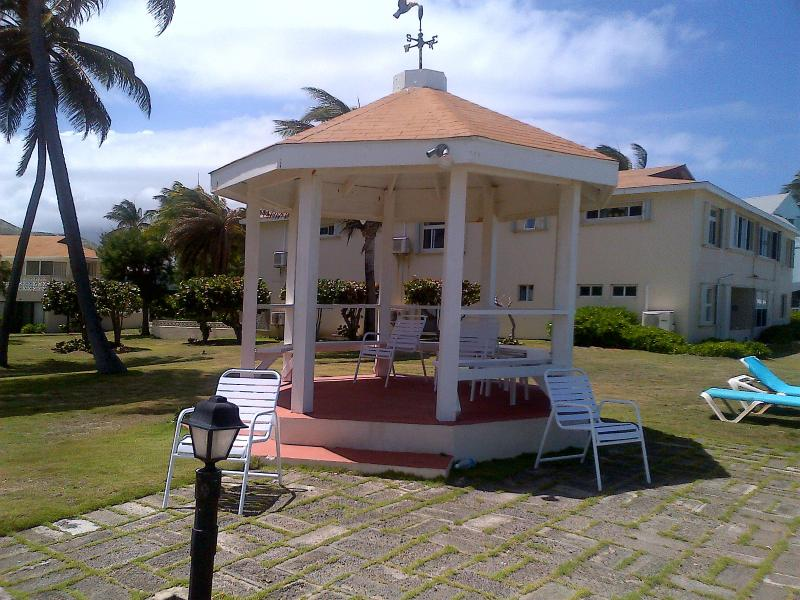 The gazebo - a cool place to read or just relax