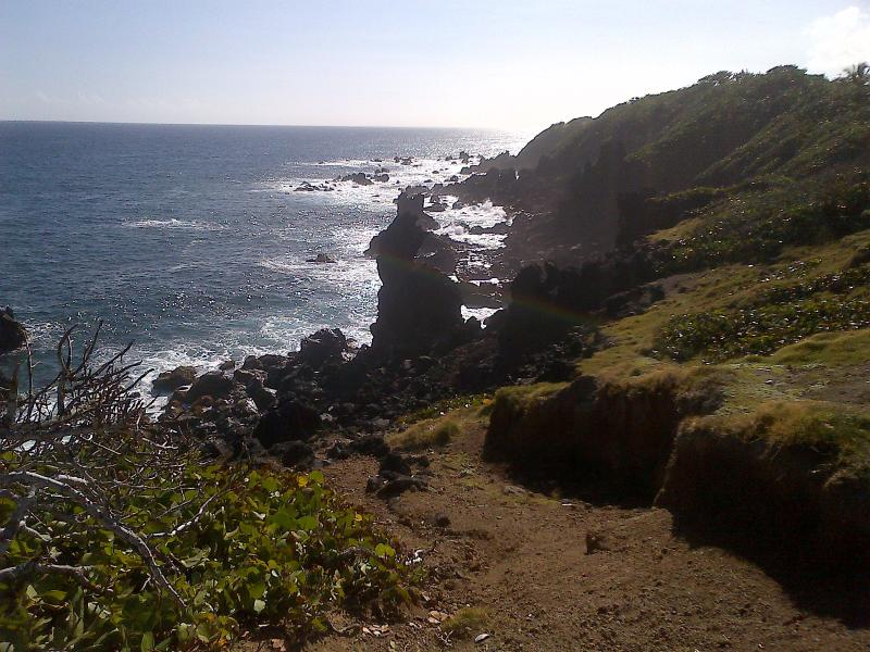 The famous Black Rocks that formed from lava rock.