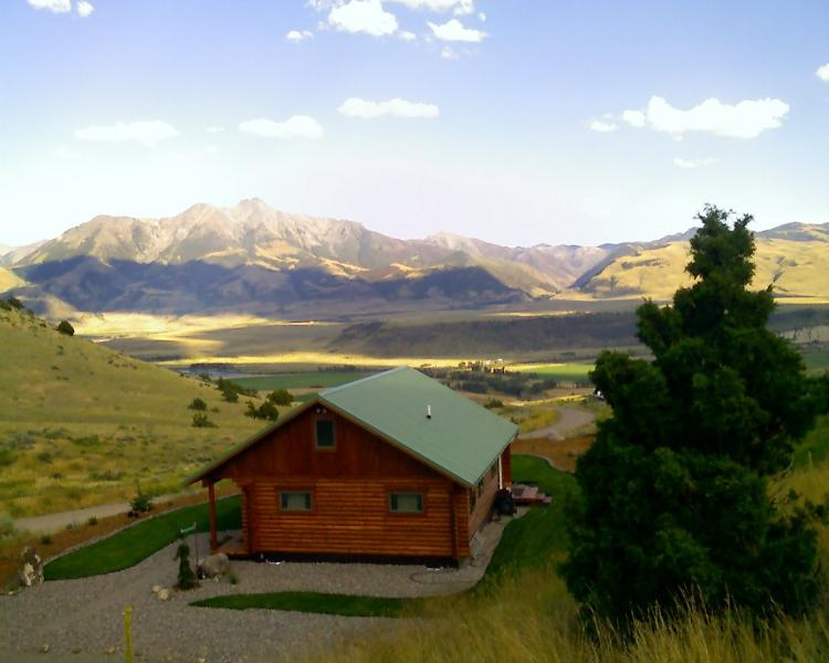 Sage Cabin Looking over Paradise Valley to Emigrant Peak