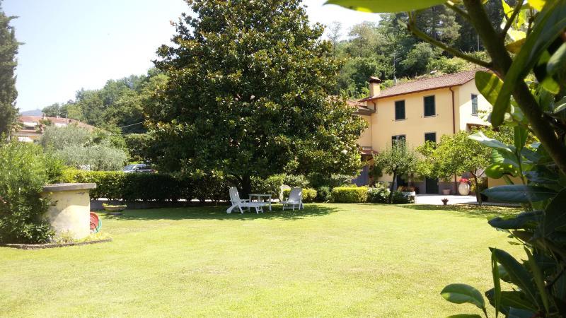 relax in giardino all'ombra della grande magnolia