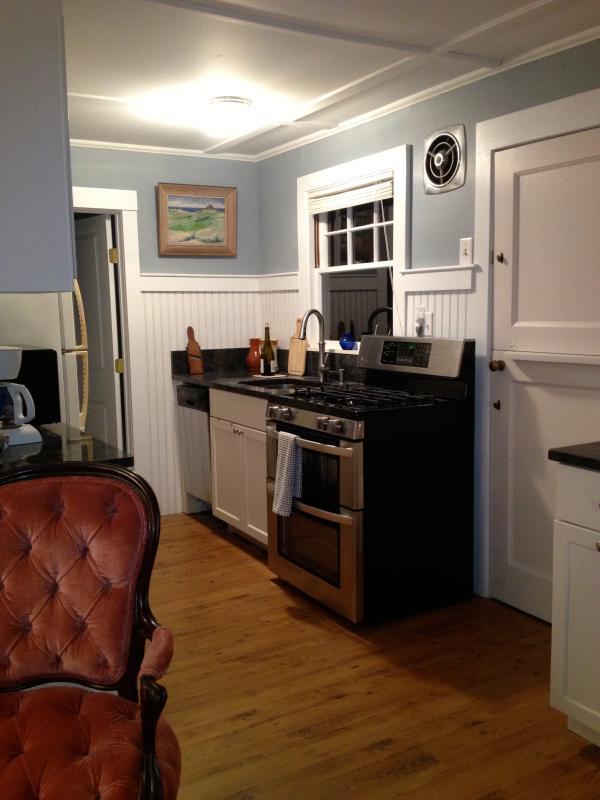 Un bien surtida cocina y horno doble o todo lo que necesitas para hacer una fiesta cuando quedarse en casa