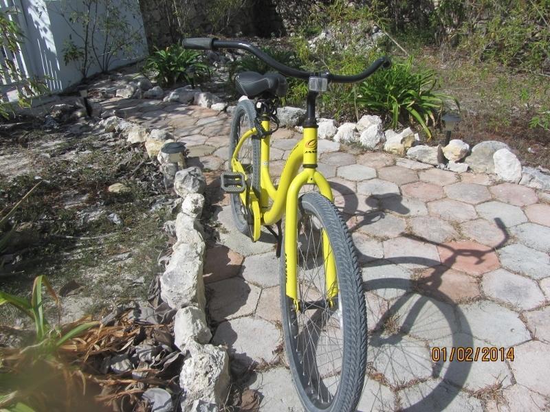 Una de las bicicletas incluidas con la casa.