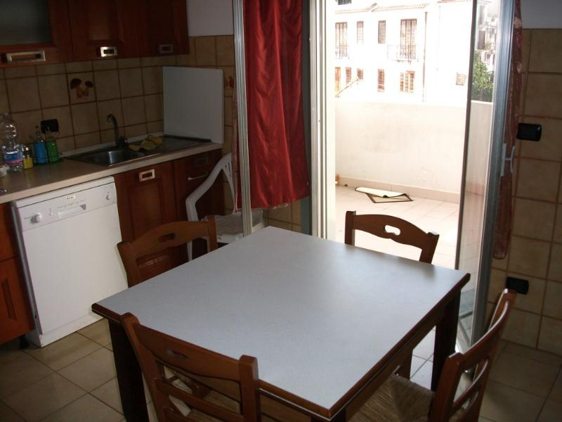 large kitchen with veranda