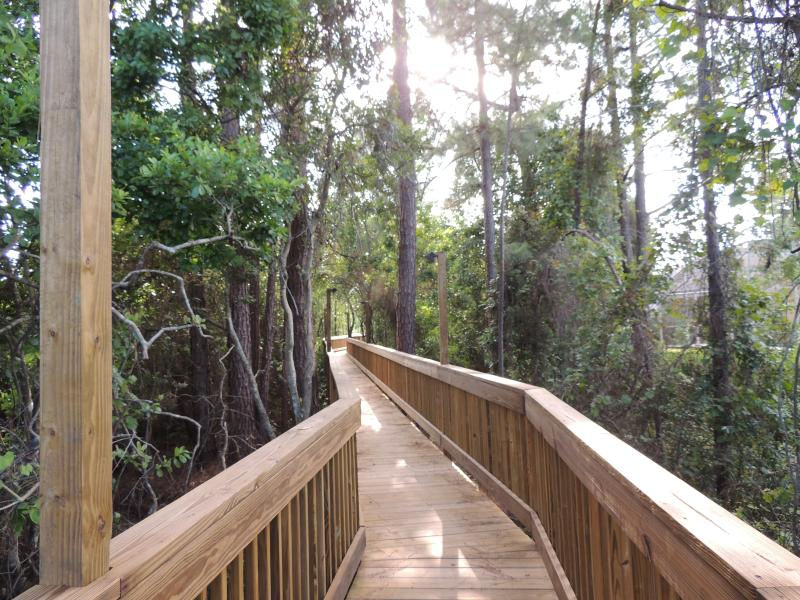 The boardwalk offers a unique Forida Everglades-style experience near Paradise on Ice.