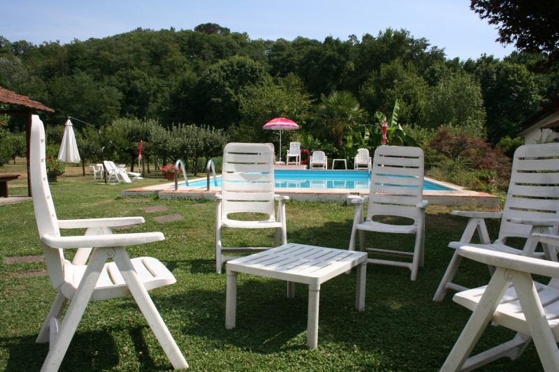 Casale i Girasoli: romantic apt, park and pool, Ferienwohnung in Barga