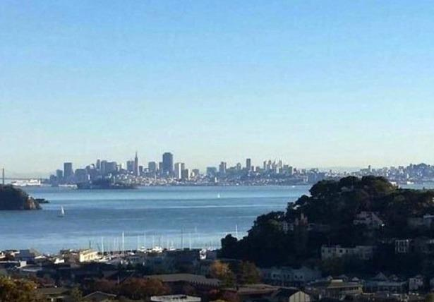 View from living room of San Francisco Bay