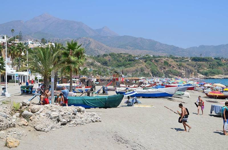 Another view of the fishermen boats  at Burriana Beach later in the afternoon