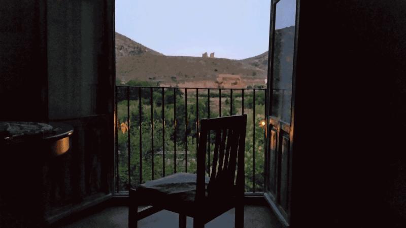 Ruinas de San Miguel desde la ventana