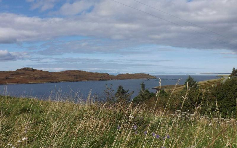 The view towards the Outer Hebrides from the garden.