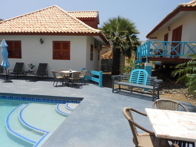 bungalow en zwembad