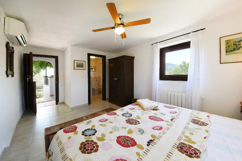 The Wisteria bedroom double ensuite with own private entrance and balcony. A/C