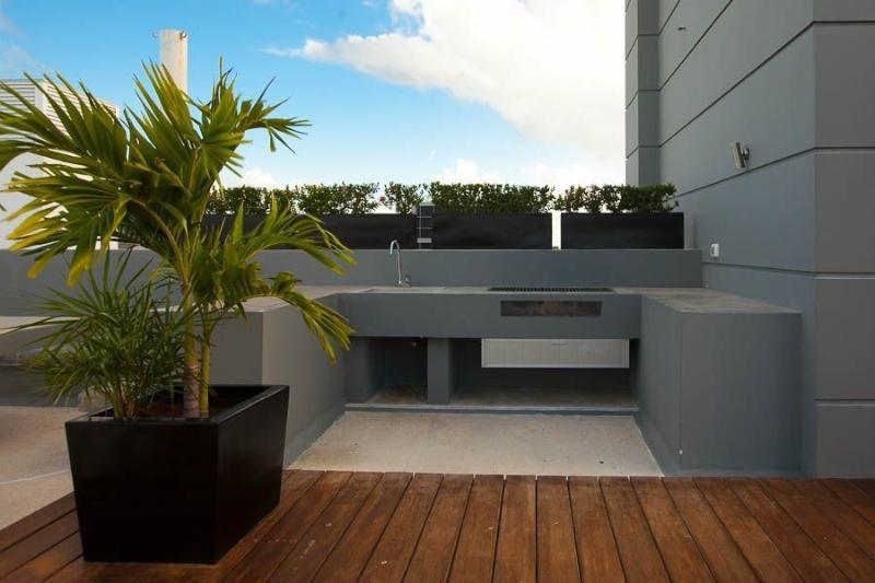 BBQ area on the roof top solarium