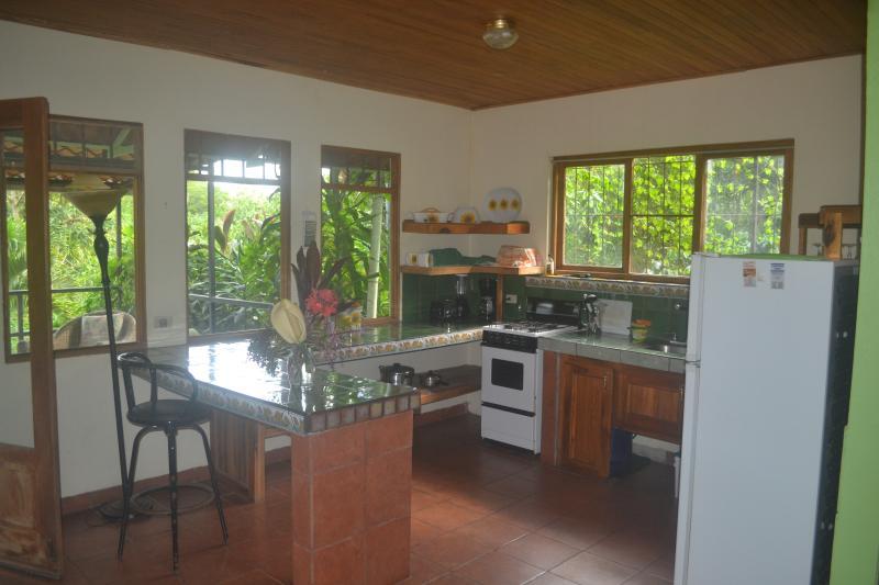 Bright and sunny fully stocked kitchen