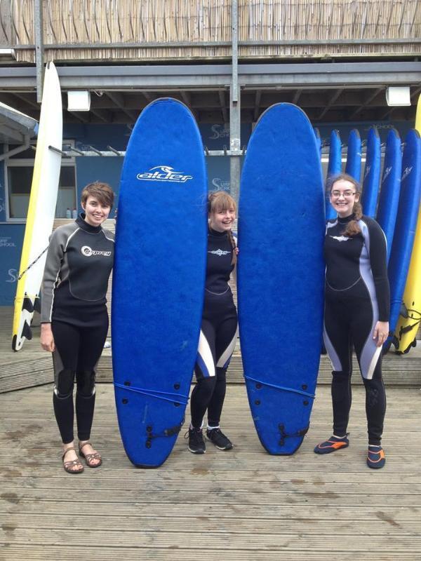 Go surfing at Westward Ho!