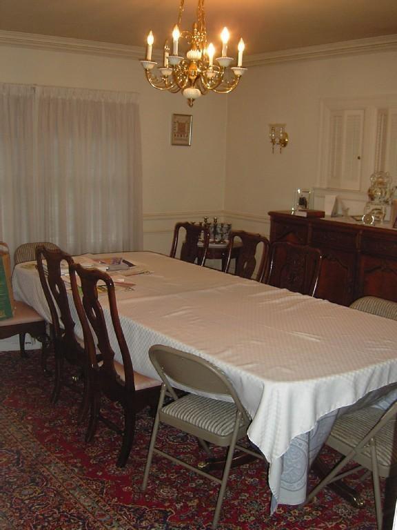 Salle à manger formelle Table 12 places
