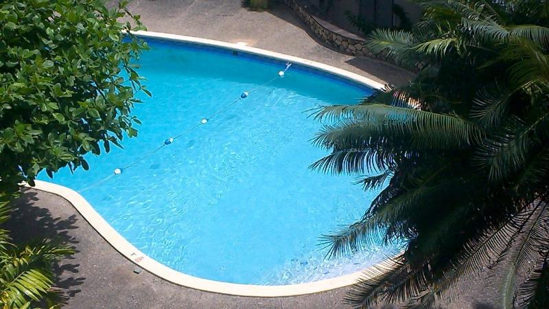 pool below balcony