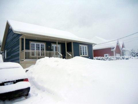 Property exterior in winter