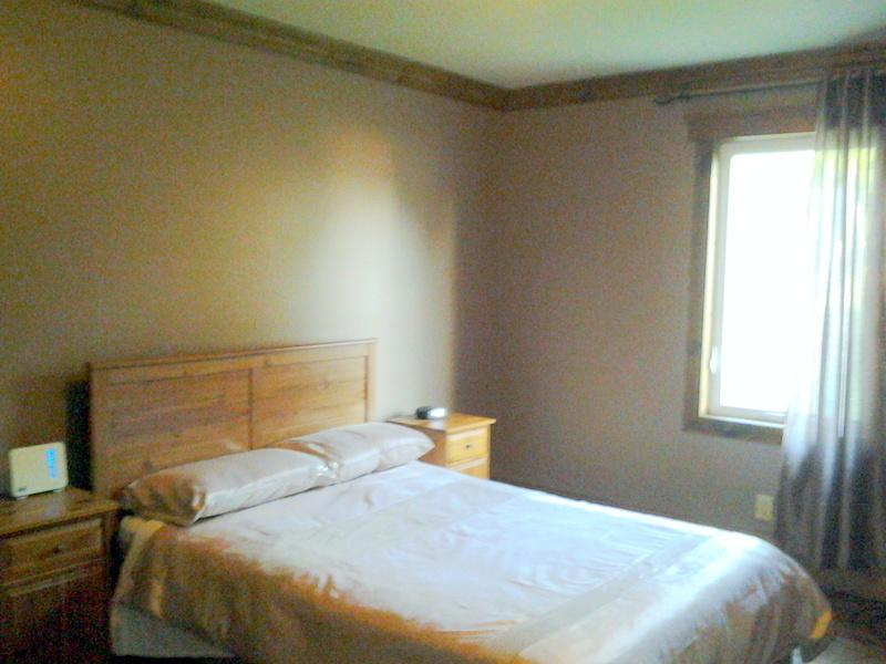 Bedroom 2 with double bed and large walk in closet