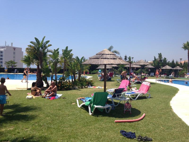 3 piscines , Transat, parasol