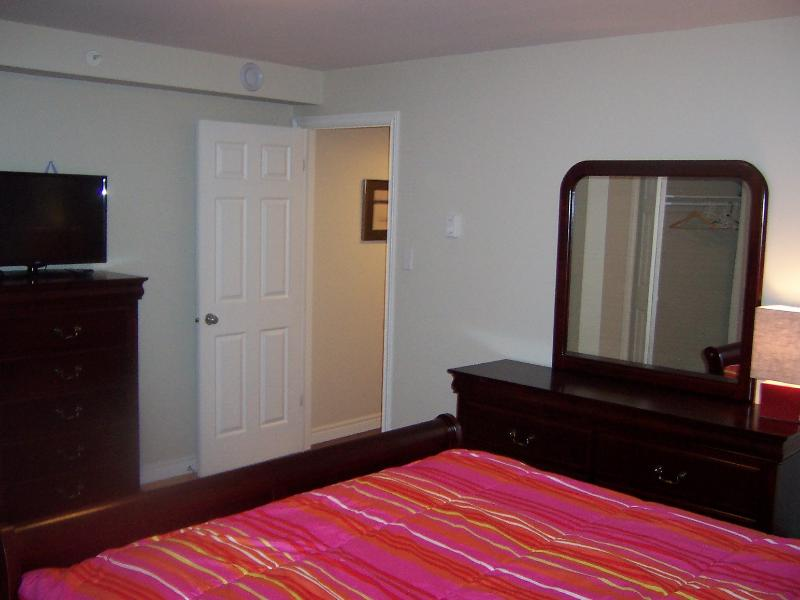 2nd lower level bedroom-ground level with view out window