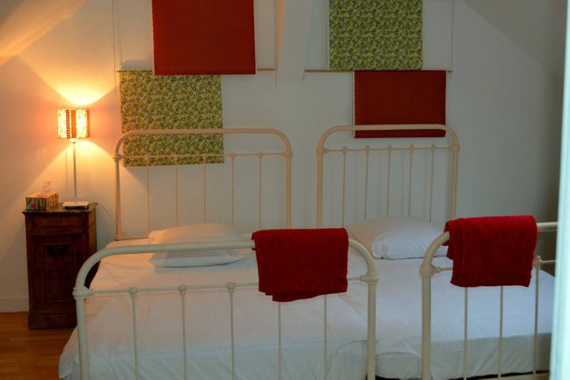 Your bedroom with two beds that can be separated