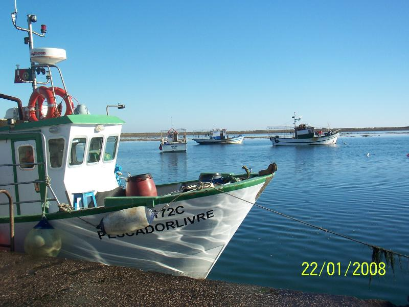 Fishing boats at Santa Luzia
