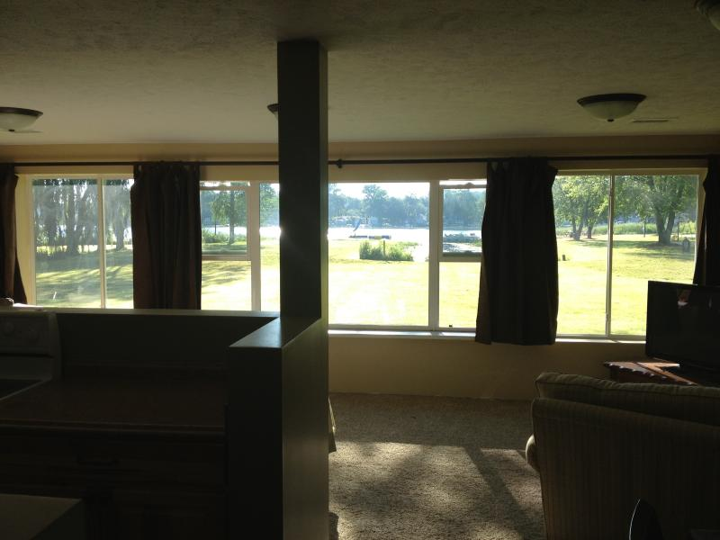 BEAUTIFUL LAKEVIEW FROM OPEN LIVING ROOM, DINING AND KITCHEN