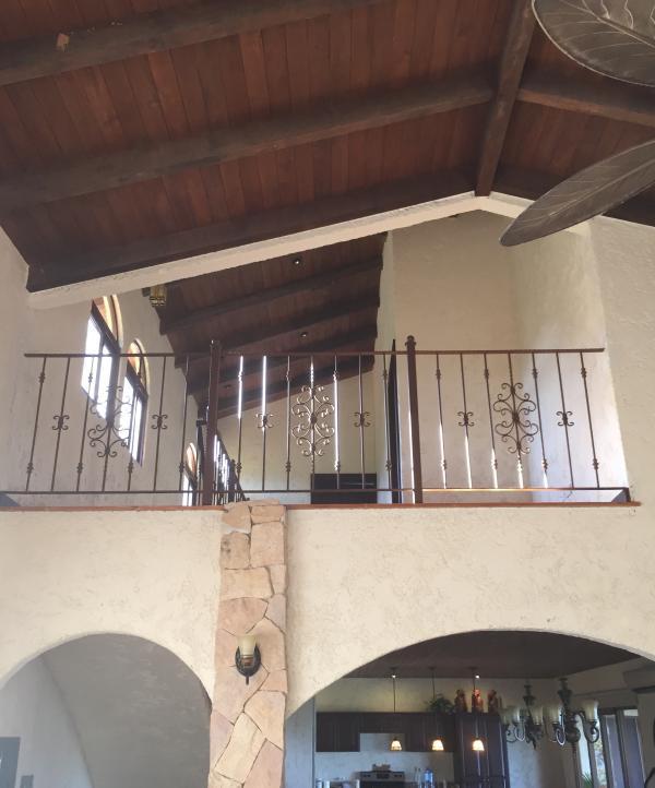upstairs overlooking living room