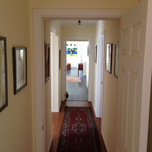 Hall to bedroom area (seen from master bedroom)