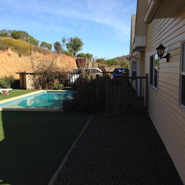 Front garden with swimming pool 2