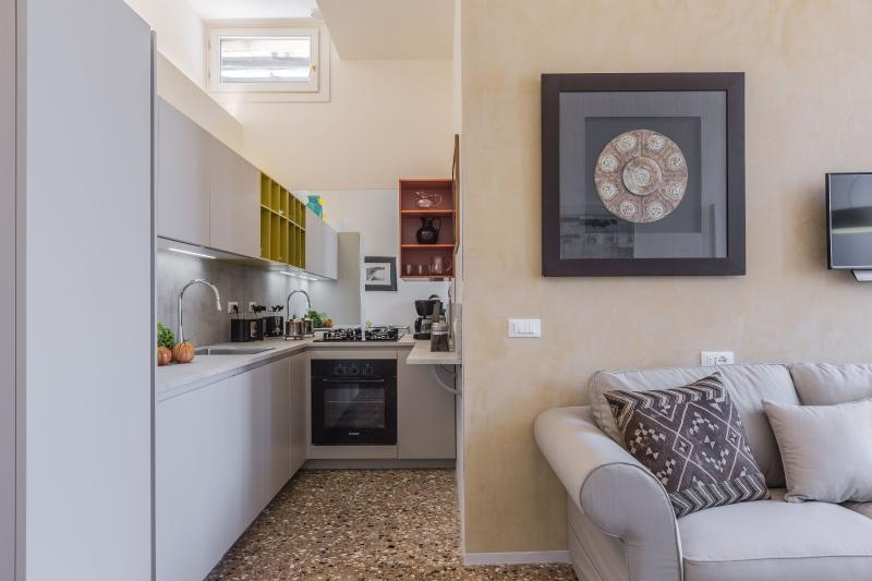 high-tech kitchen with brand new appliances