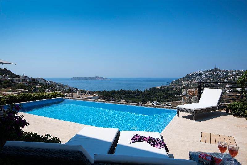 Roya's private pool and views