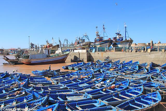barques de pêcheurs dans le port d'Essaouira