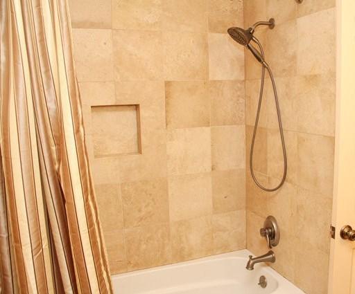 Natural Stone Bathroom Upstairs