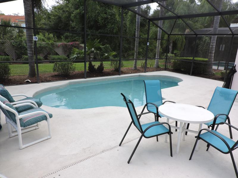 Pool area, not overlooked at rear. Ideal for outdoor dining.