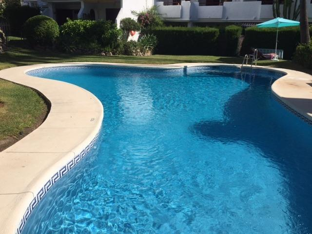 There are three identical pools, plenty of space for everyone