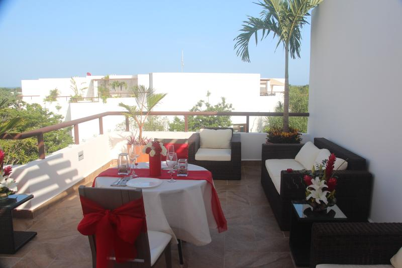 Fully furnished roof terrace with kitchenette and Jacuzzi and BBQ