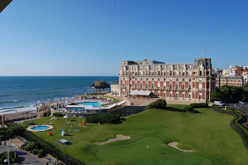 View from the studio of the Hotel du Palais and the sea!!