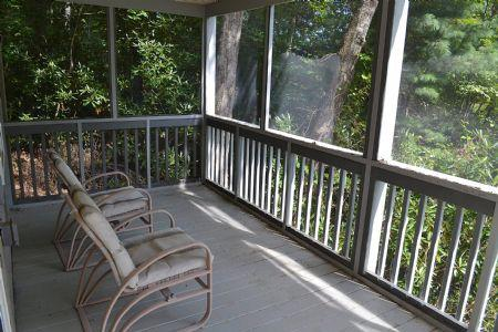 Relax in our Screened in Porch on the Lower Level