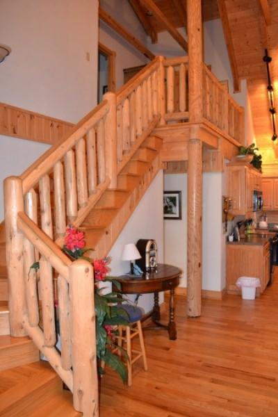 Log Crafted Stairs