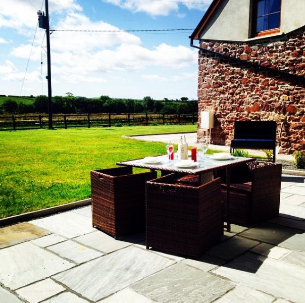 Dine on the patio whilst enjoying the beautiful countryside views!